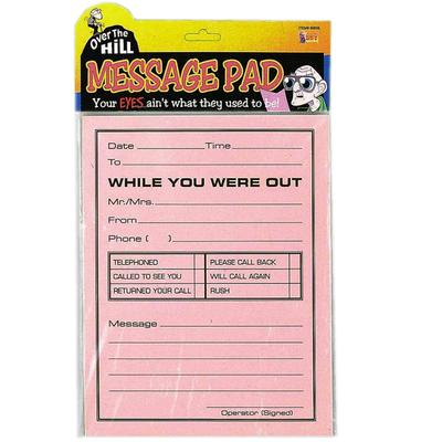 Click to get Over the Hill Jumbo Message Pad