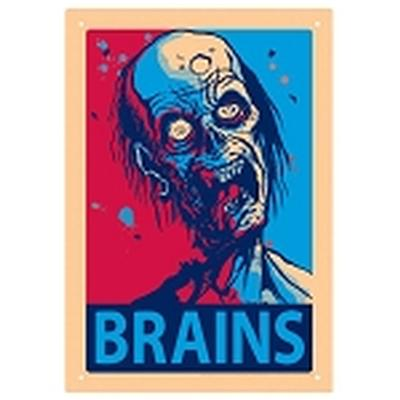 Click to get Brains Tin Sign