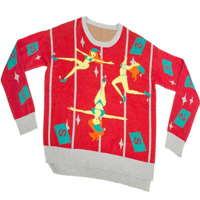 Click to get Knit Ugly Holiday Sweater Pole Dancing Elves